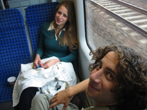 German and Israeli Youth on a train in Germany